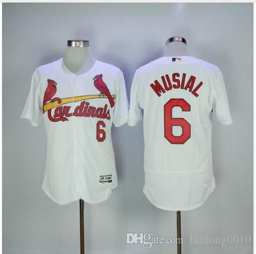 buy online 484e3 087e3 Customize Men's St. Louis Cardinals Stan Musial Jersey Free shipping
