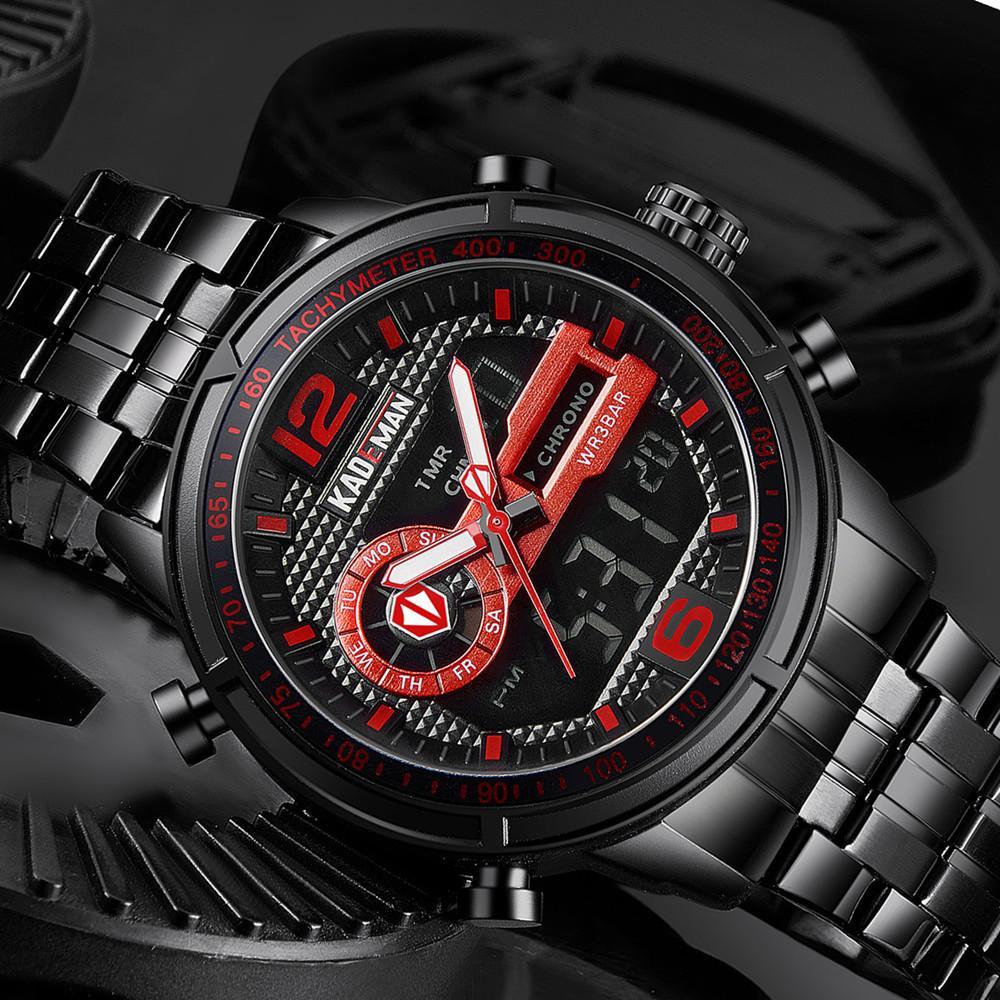 d93e4af59f4 2019 New Sport Men Digital Watch KADEMAN TOP Brand Luxury LED Wristwatches  Dual Display Waterproof Watch Business Clock Watch Watches From  Watchesjewelry