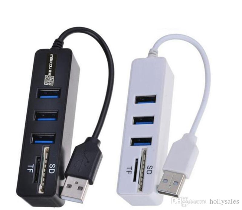 HUB3.0 USB2.0 허브 멀티 USB 분배기 HUB2.0 HAB SD TF 카드 리더기 컴퓨터 노트북 사용