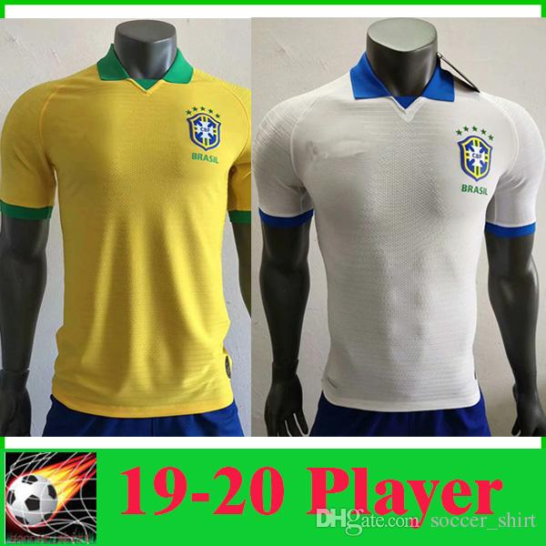 e5d6bcc54 2019 Player Version 2020 Brazil Soccer Jersey Home Soccer Shirt G.JESUS  COUTINHO MARCELO FIRMINO 2019 20 Brasil National Team Away Football Shirt  From ...