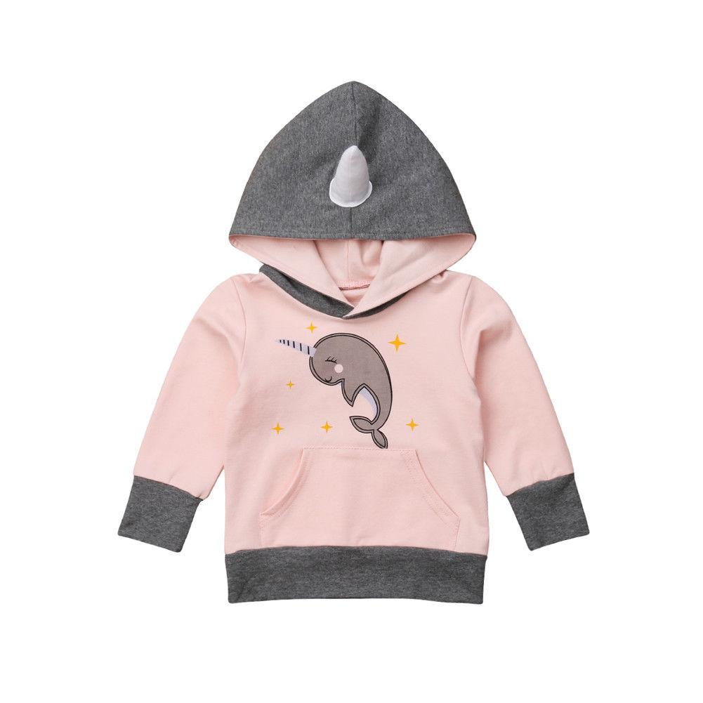 44f1bdbd34c 2019 Casual Autumn Spring Children Girl Clothing Sweatshirt Toddler Kid  Baby Boy Girl Dolphin Hoodie Pullover Jumper Hooded Tops From Wonderfulss
