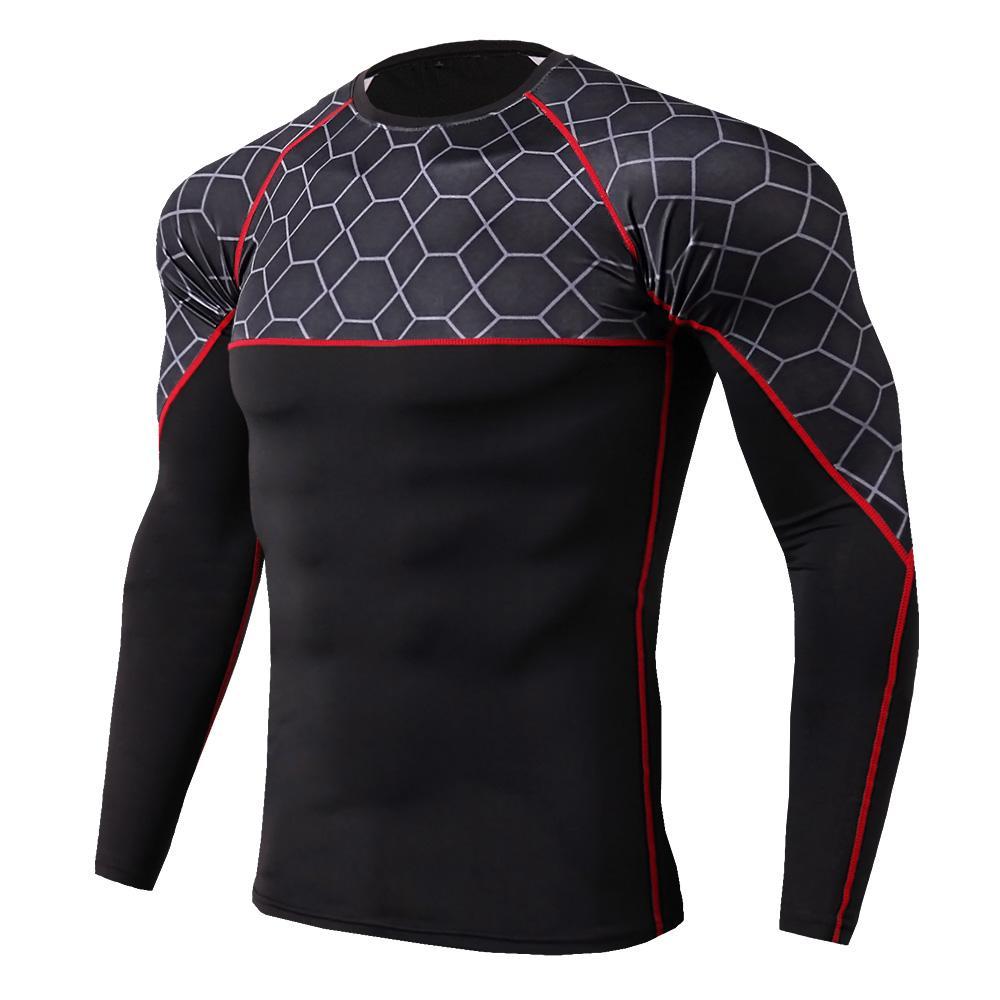 c35d8b964d New Rashgard Compression Sport Shirt Men Long Sleeve Fitness Top Sportswear  Gym Training T Shirt Bodybuilding Running Men Running T-Shirts Cheap  Running ...