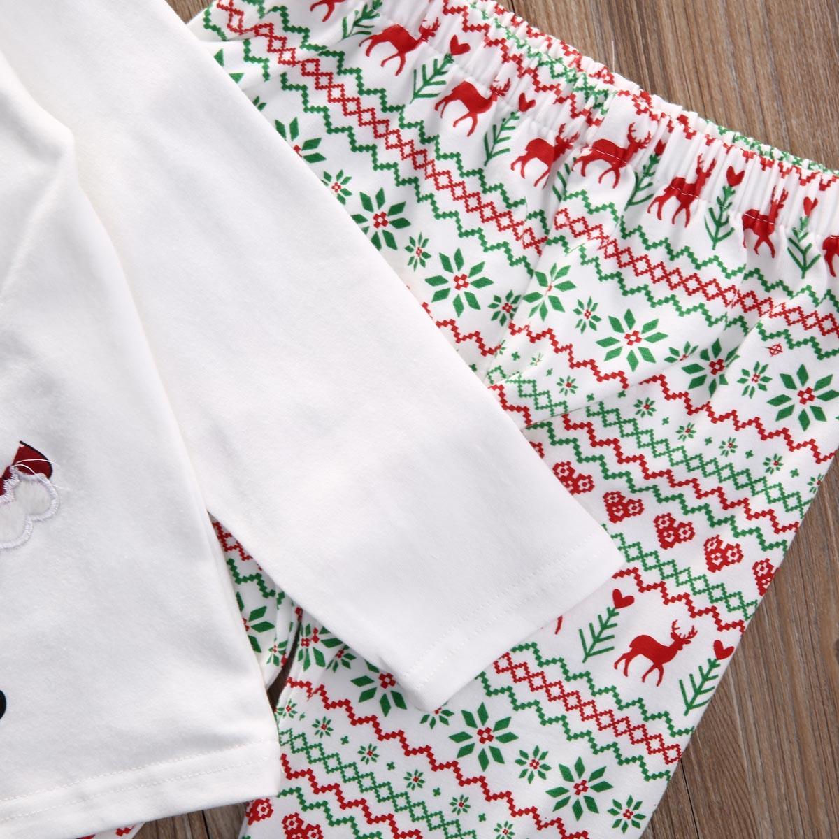 Baby Weihnachten Kleidung Set Baby Deer Sankt Nachtwäsche Pyjamas Pj Outfit Set Nachtwäsche