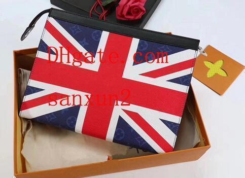 Ladies Large Capacity Korean Version Of The Summer 2019 New Personality Tide Fashion Two-tone Letter Pattern Clutch Bag