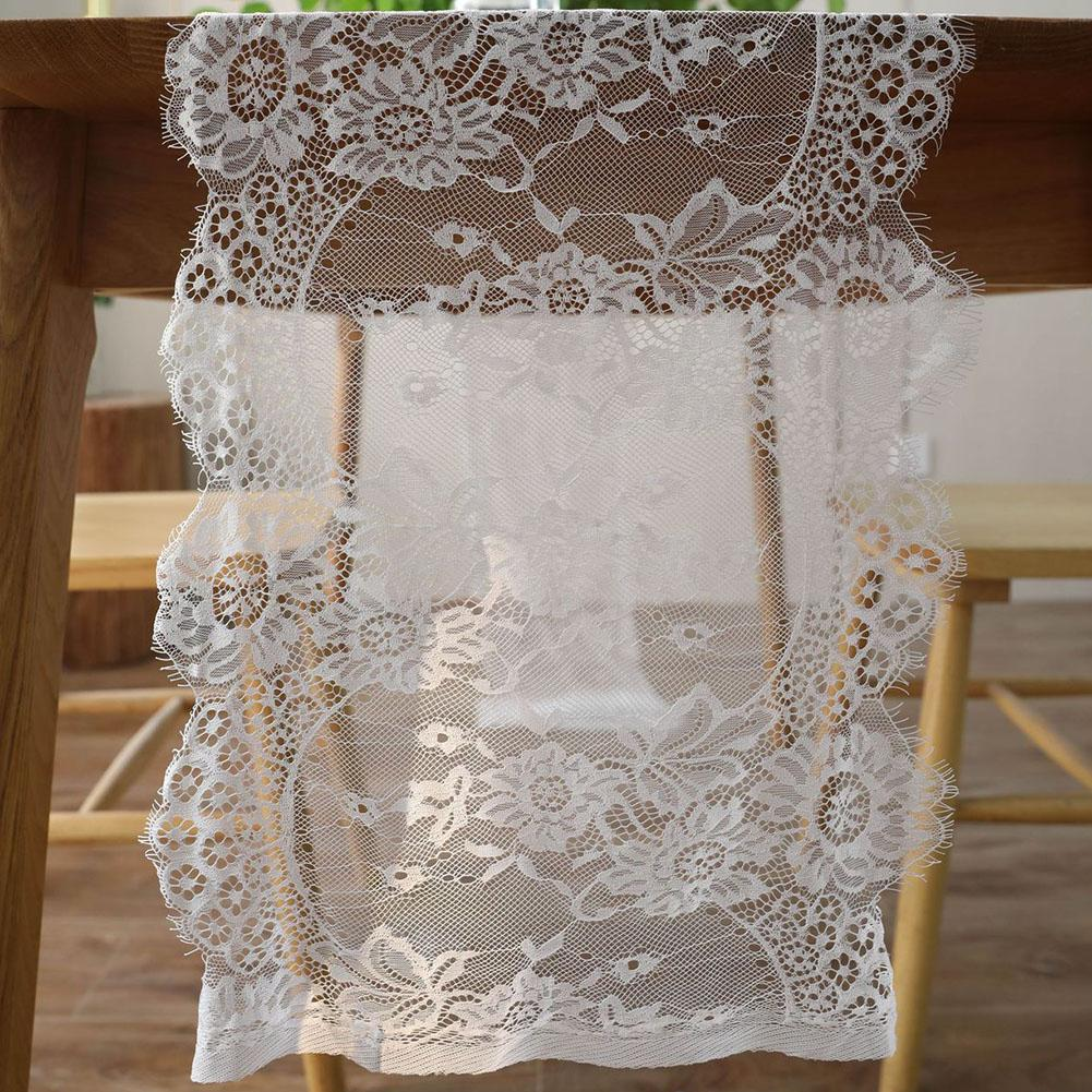6ff613070 Wedding Party Chair Sash Dining Room Covers Lace Floral Decorative  Restaurant Table Runner Home Modern Accessories Holiday Bamboo Table Runner  Bamboo Table ...