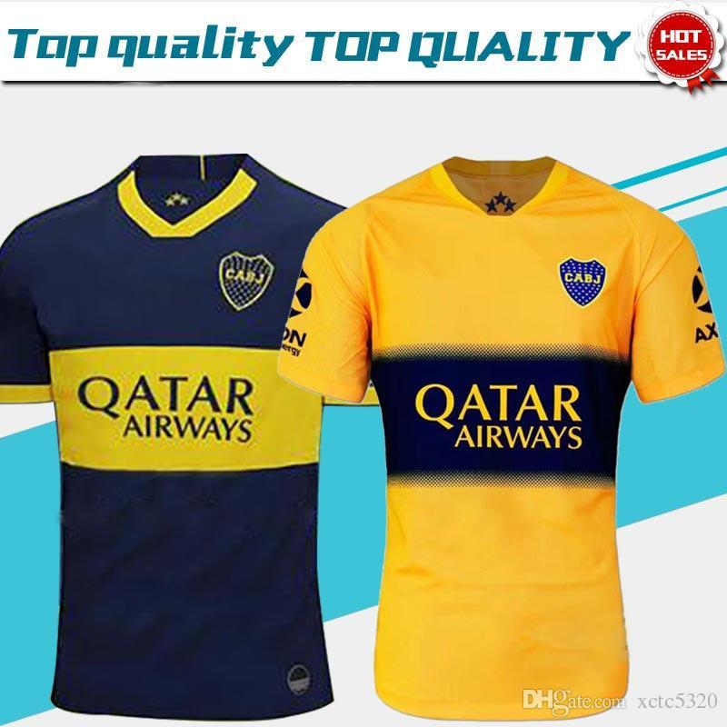 1b3de7075e Compre 2019 Boca Juniors Casa Azul Camisas De Futebol 19/20 Boca Juniors  Afastado Amarelo Camisas De Futebol Adulto Uniformes De Futebol Vendas  Frete Grátis ...