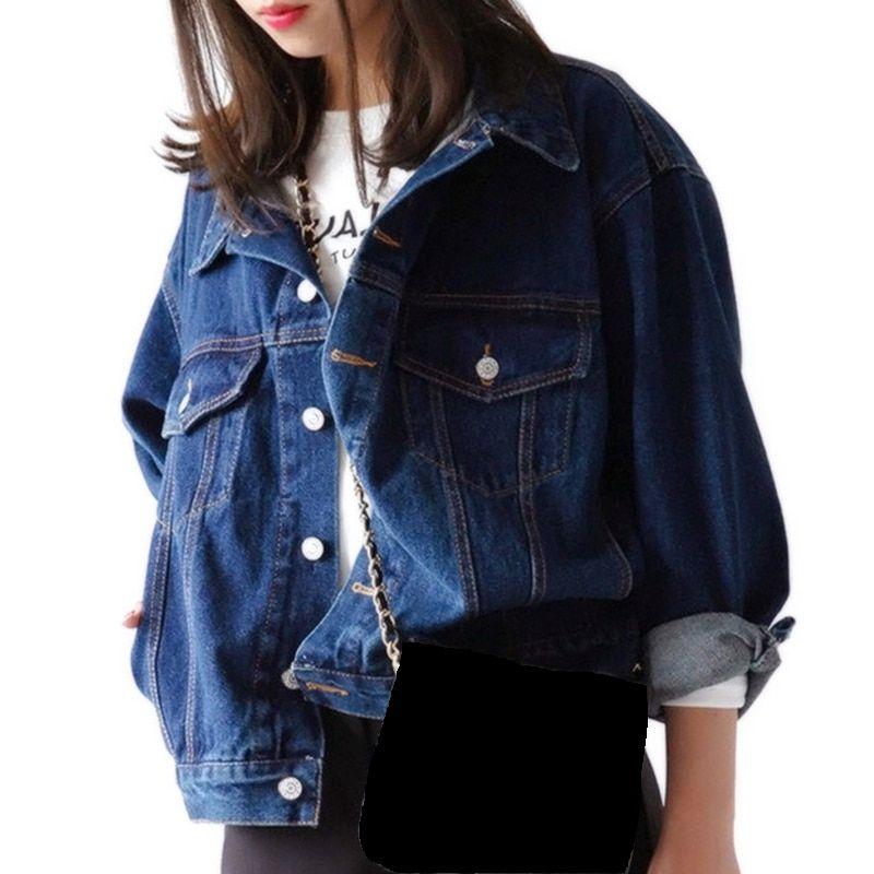 c4033d836e49 LITTHING 2019 Spring Women S Jeans Denim Jacket Bomber Jackets Hand Brush  Long Sleeve Stretch Short Denim Jacket Overcoat Brand Summer Jacket Faux  Fur ...