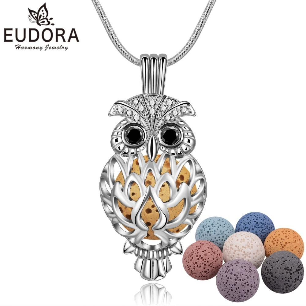 4d6697af401ffd Wholesale Wholesale Lava Necklace Pendant Volcanic Stone Chain Animal Owl  Necklace For Women Perfume Lava Ball Fashion Jewelry Gift 14mm Opal Necklace  ...