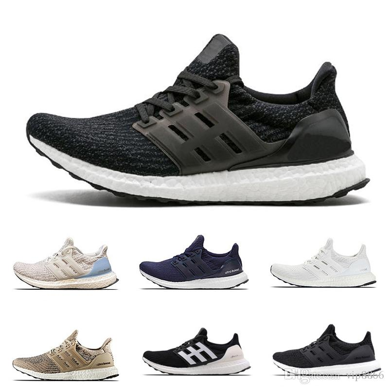 cc1a1a8db373f Trainers Ultra Boost 3.0 Triple White Presto Primeknit Women Running Shoe  Designer Athletic Ultraboost Sneakers Sports Shoes For Men Size 13 Running  Shoes ...