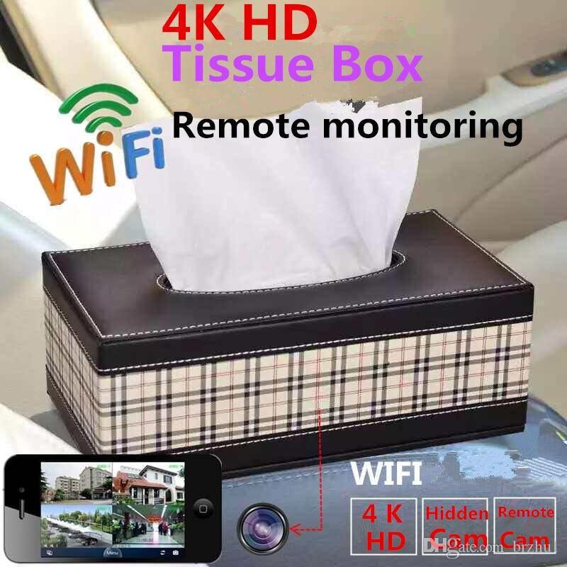 4K HD Remote Monitoring Wireless WIFI IP Camera Tissue Box