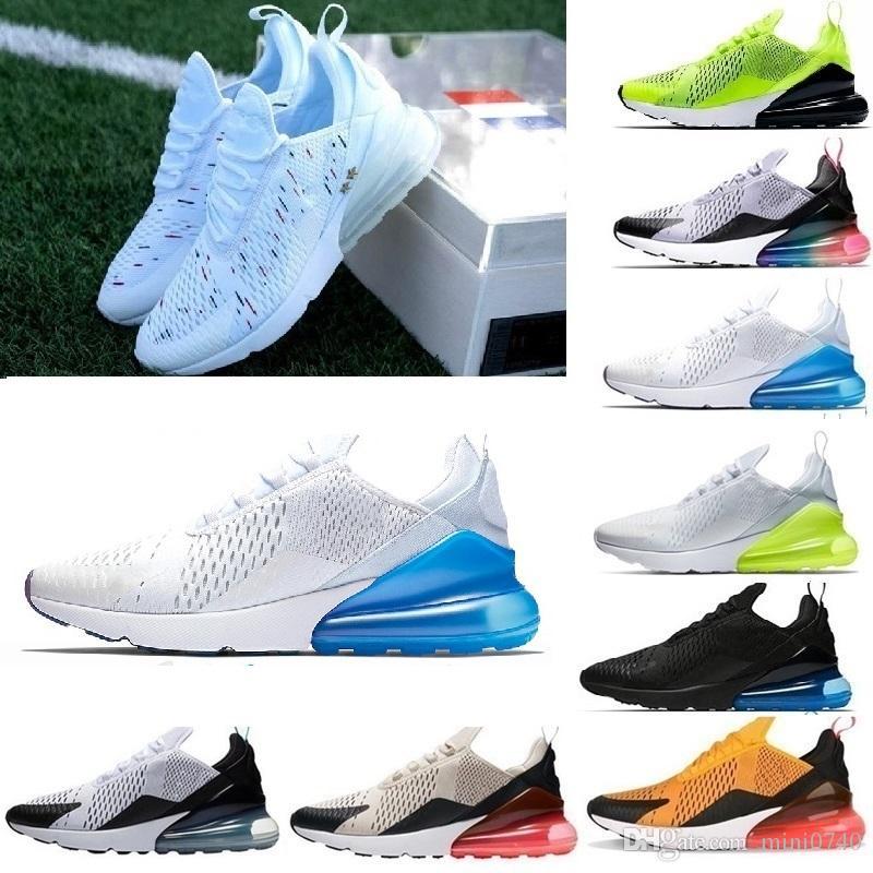 f7ae78e0 Compre Nike Air Max 270 2019 Venta Al Por Mayor De Alta Calidad Para Hombre  Flair Triple Black Trainer Womens Air Suela De Zapatos Casuales Zapatillas  De ...