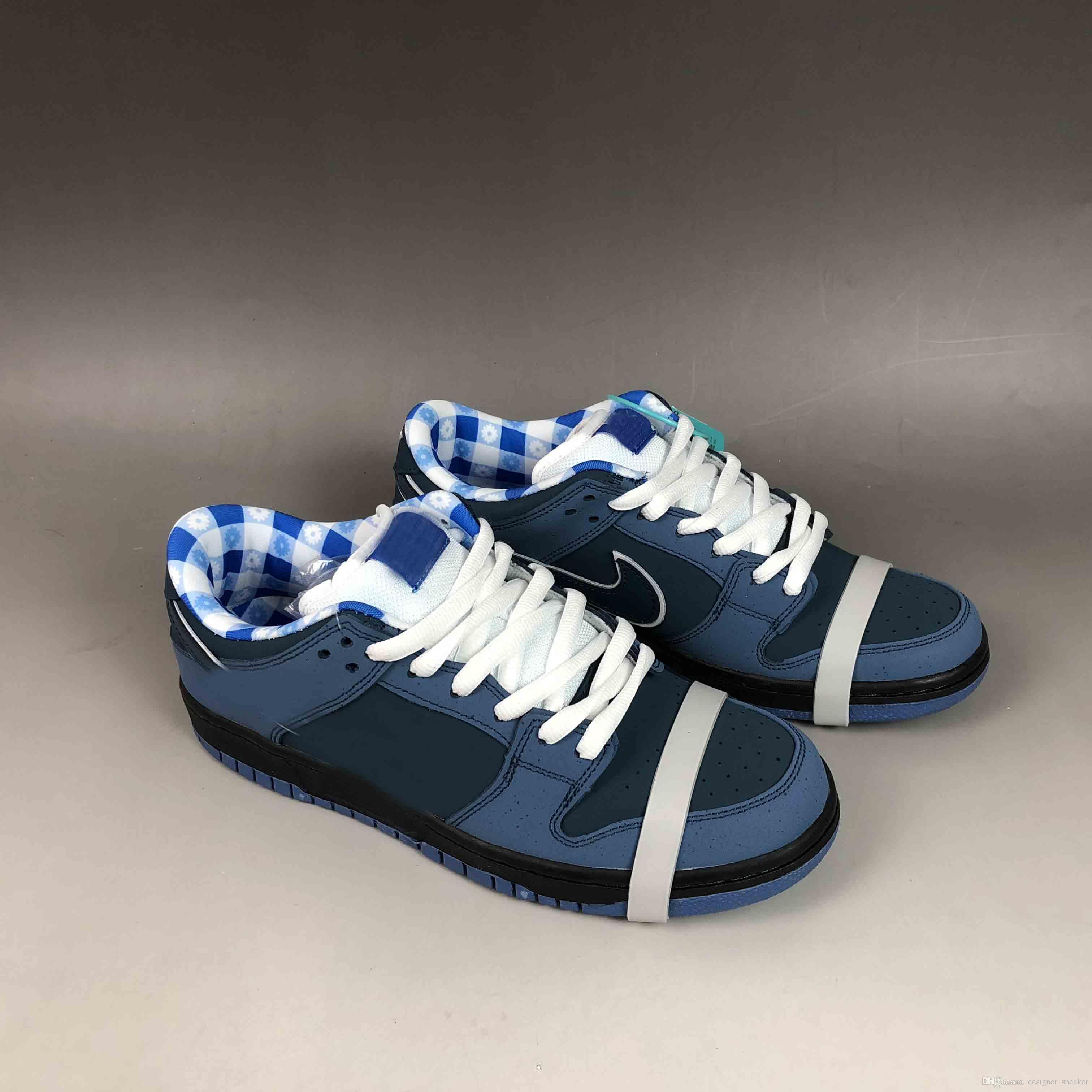 2019 Nike Air SB Authentic Concepts X Dunk SB Blue Lobster Woman Zapatillas  De Baloncesto Para Hombre Zapatillas Deportivas De Ante Azul Con Caja Por  ... e818898c0a12c