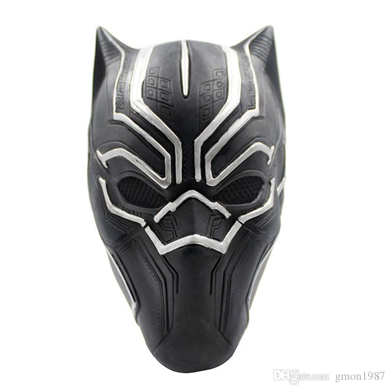 Movie Black Panther Masks Movie Captain America Civil War Cosplay Costume Full Face Latex Helmet Mask Halloween Mask