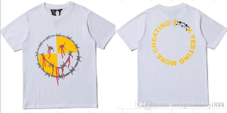 Vlone A$AP Rocky Testing T-shirt Men Women Friends t shirt Harajuku tshirt  Hip hop Streetwear Brand Summer Cotton Clothing Printing Tee Top