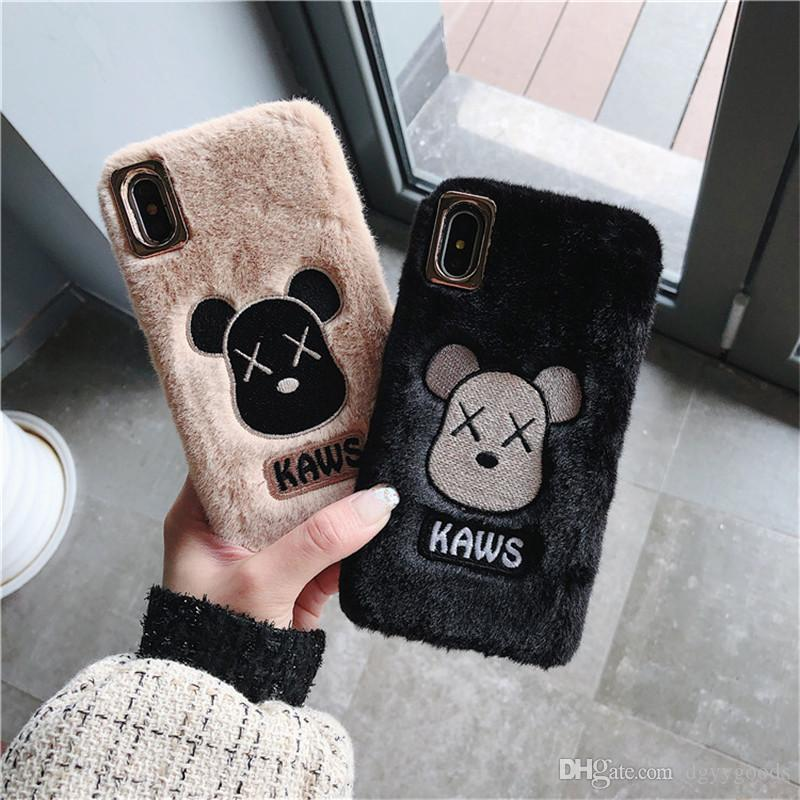 Peluche ricamo dell'orso del telefono mobile iPhone Xsmax xr adeguato iphone11pro 7 8plus soft shell