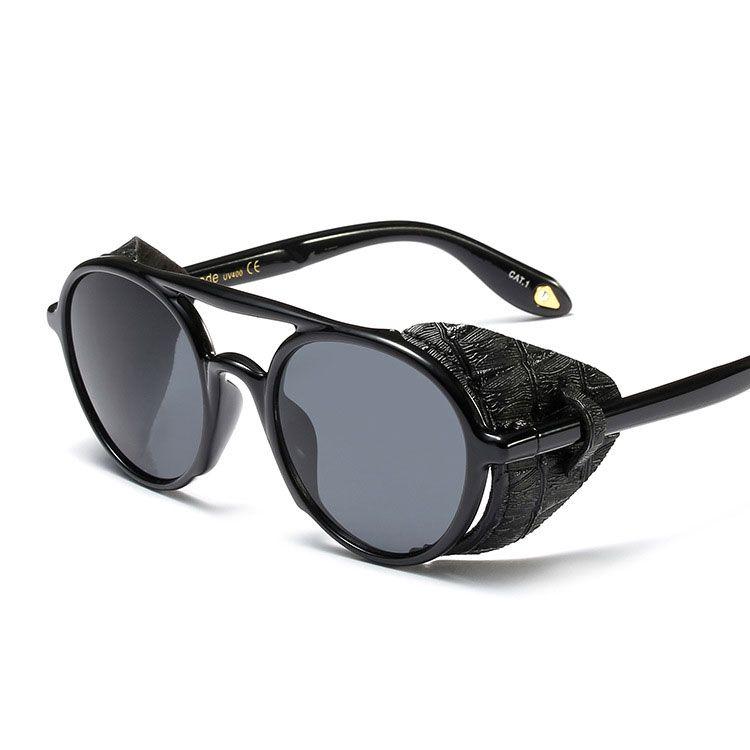 e66c2ba0da 2019 Designer Steampunk Sunglasses For Men And Women Modern Fashion Punk  Glasses Round Retro Gothic Shades Oculos De Sol Cheap Eyeglasses Sunglasses  Shop ...