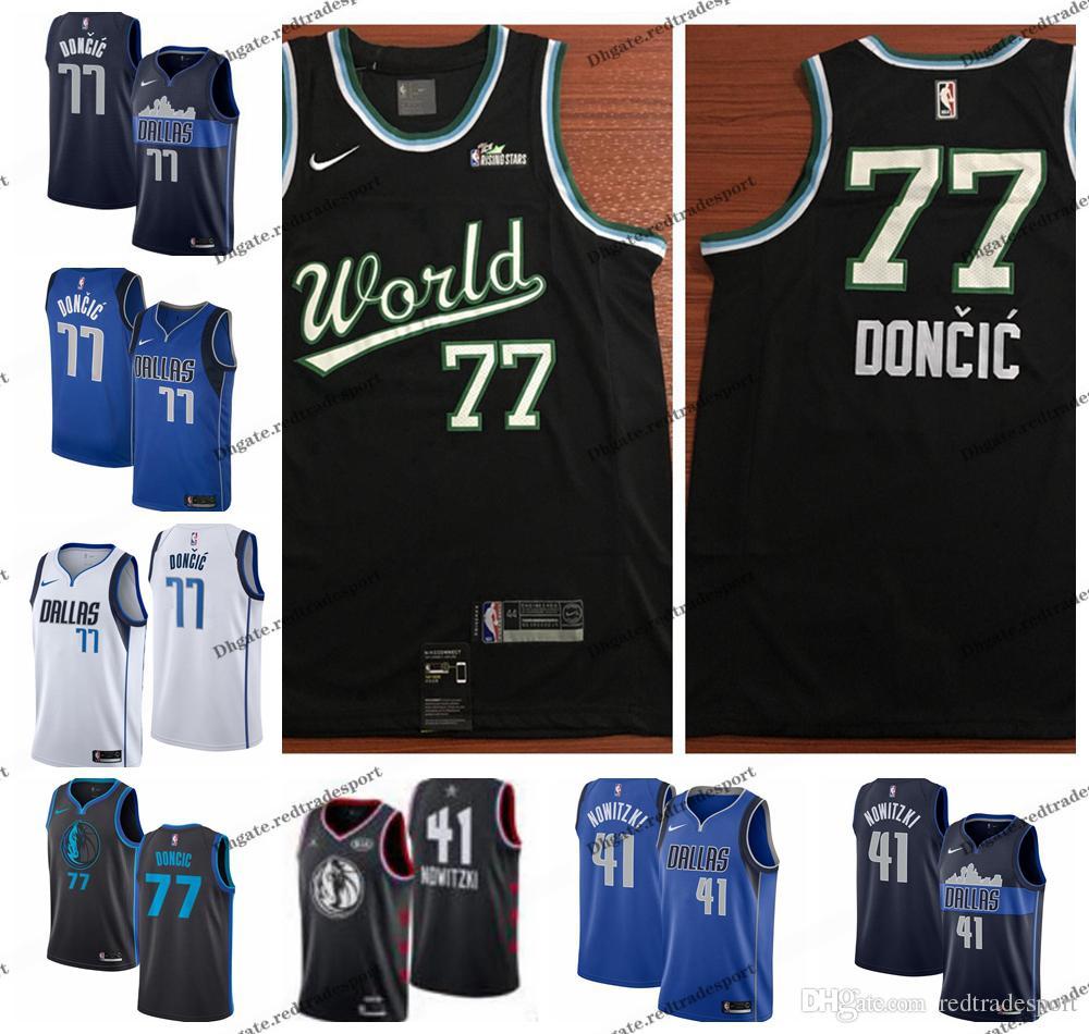 64443430 2019 2019 World All Star #77 Dallas Dirk Nowitzki Luka Doncic Mavericks  Edition Basketball Jerseys City Luka Doncic Edition Shirts S XXL From  Redtradesport, ...