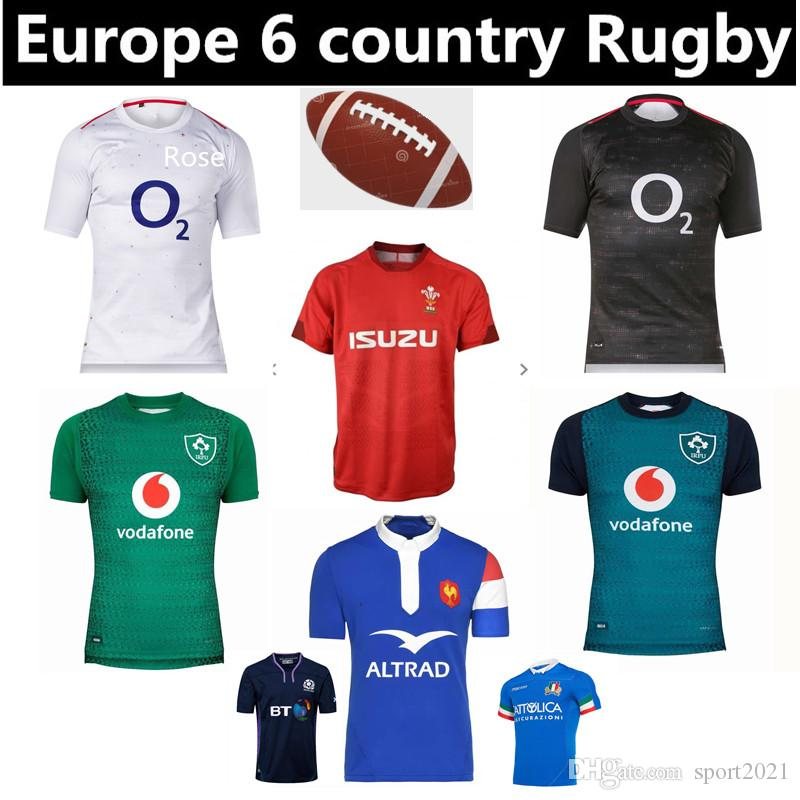 368760f6b31e2 2019 New 2019 Ireland English Rugby Jersey Europe 6 Country Wales Scotland  France Italy Top Quality Rugby Jerseys Quick Dry T Shirt Size S 3XL From ...