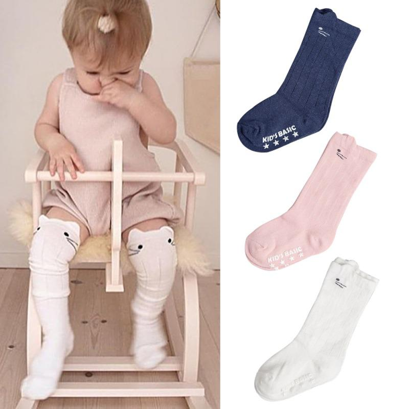 21881951bc1 Cotton Infant Baby Girl Anti Slip Crib Socks Baby Kid Girls Toddler Socks  Leg Cute Cartoon Knee High For 0 4T Socks Unique Popular Sock Brands From  ...
