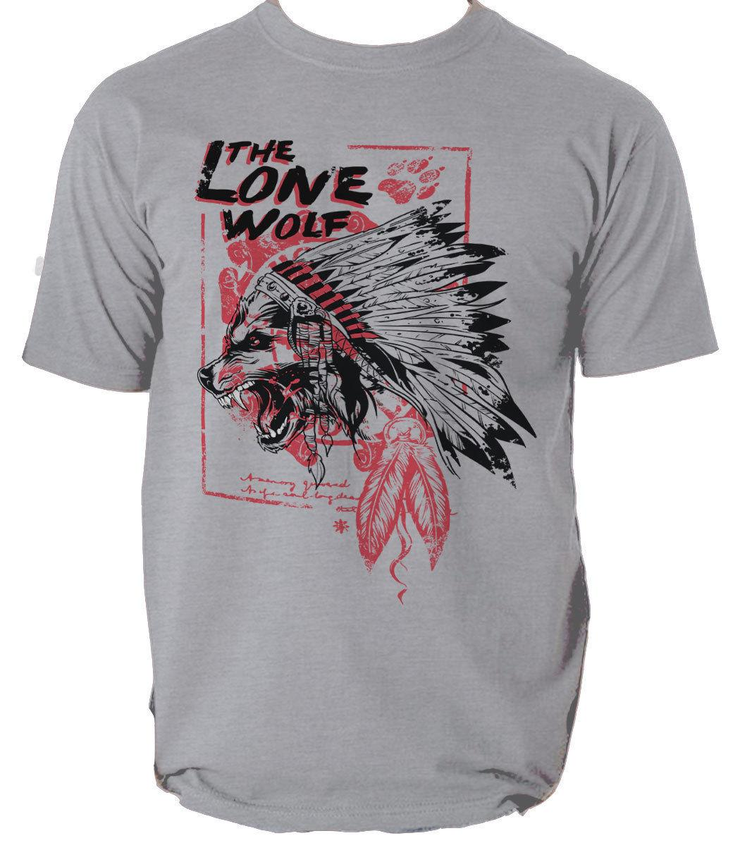 The lone wolf t shirt wolf indian vintage s-3xl Men Women Unisex Fashion tshirt Free Shipping black