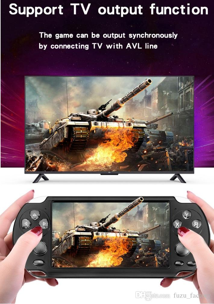 Newest X9-S Handheld Game Player 5.1 Inch Large Screen Portable Game Console MP4 MP3 Player with Camera TV Out TF Video for GBA FC Game DHL