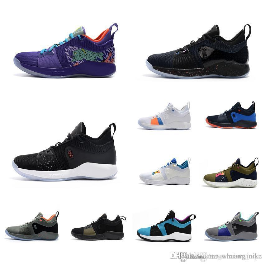 wholesale dealer c697c 63cf7 Cheap Men PG2 Paul George basketball shoes for sale Mamba Mentality Kobe  new arrival PG 2 elite sneakers tennis with box Size 7 12 40 46