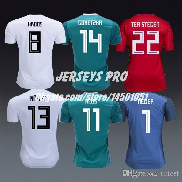 new products 1e053 963cf Alemania World Cup 2018 Soccer football Jersey Leroy Sane Hummels Neuer  Goalkeeper Toni Kroos Leon Goretzka Marco Reus Kimmich Thomas Muller
