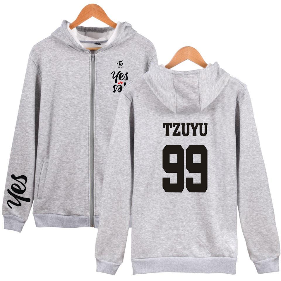 fashion Kpop Twice Harajuku Hoodie Sweatshirts men women zipper hoodies jackets casual long sleeve zip up hooded tracksuits tops