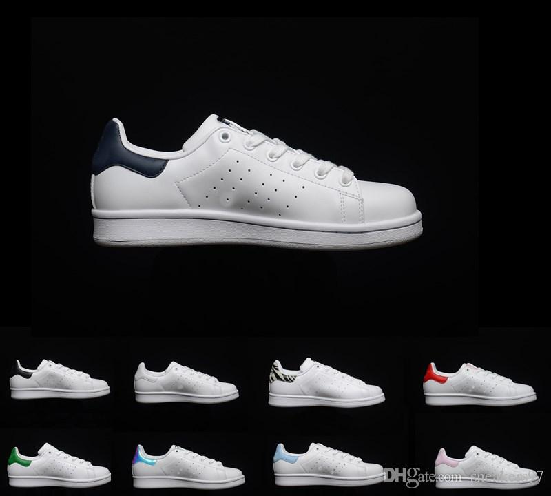 7d09b1a5d 2019 2019 New Stan Outdoor Shoes Fashion Smith Top Quality Men Women Classic  Flats New Casual Leather Sports Sneakers Shoes Size 36 44 From Sneakers97,  ...