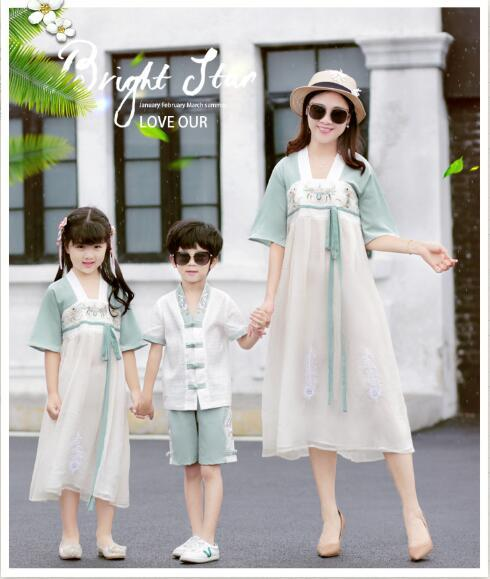 2019 New arrival Family Matching Outfits summer dress Comfortable