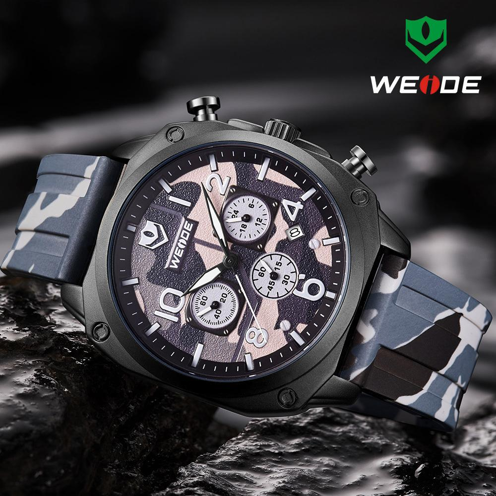 b0f63e4b8 Relogio Masculino WEIDE Mens Watches Top Brand Luxury Watch Men Military  Camouflage Leather Clock Sports Chronograph Wristwatch Watches Sales Sale  Watch ...