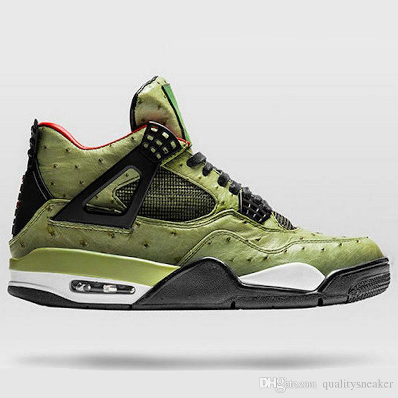 377dc2a522456d 2019 4 Travis Scott Cactus Jack The Shoe Surgeon Customs Men Basketball  Shoes Desinger 4s Chaussures De Basket Ball Sports Trainer With Box From ...