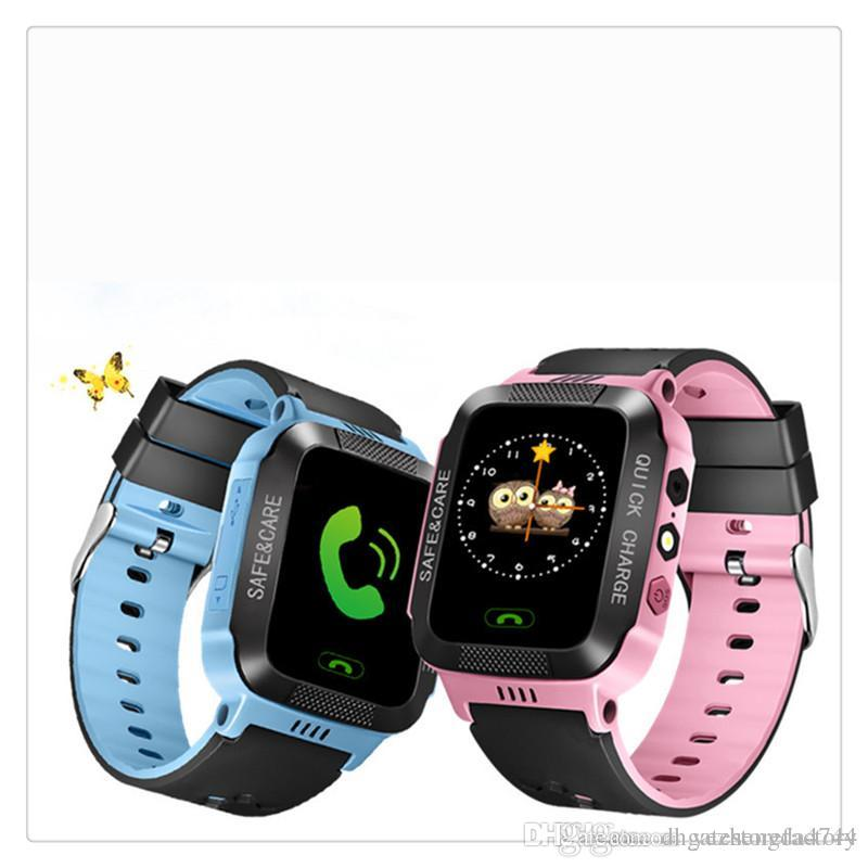 Anti-Lost Smart Watch Bracelet GPS Tracker SOS Call Location Finder For  Kids Children Compatible for iPhone Android Smartphones