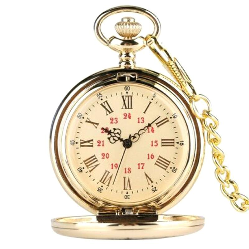 Quartz Pocket Watch Numeral To My Son Love Roman Round Display Vintage with Gift Box@88