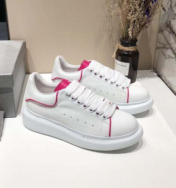 Top Quality Fashion Designer Women Shoes 3M Reflective white leather casual shoes girl men black gold red comfortable flat sneakers 13