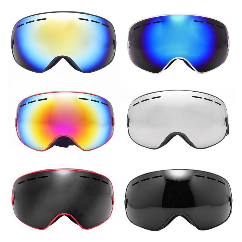 df76167fa574 2019 Anti Fogging Large Sphere Windshield Goggles Snowboarding Skiing  Glasses From Ranshu