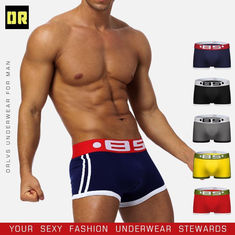 7955ab3758 Acheter Marque Hommes Sous Vêtements Boxeur Sexy Coton ...