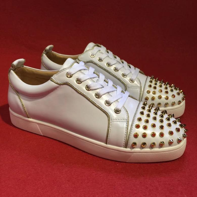 86f28dcb296 Cheap Low Top Junior Spikes Flats Luxury Shoes Red Bottom White ...
