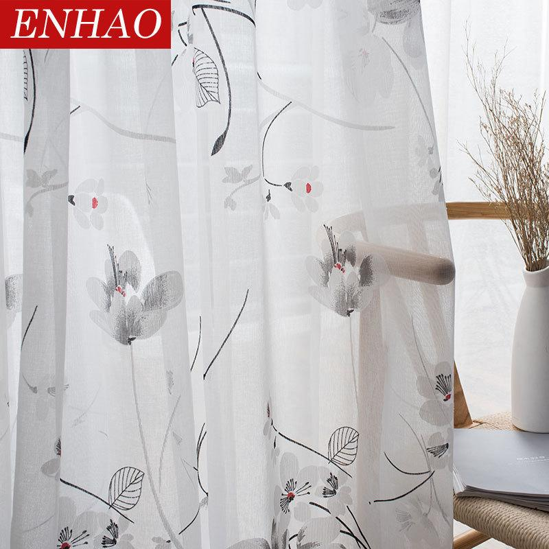 2019 enhao floral modern sheer tulle curtain for living room bedroom rh dhgate com