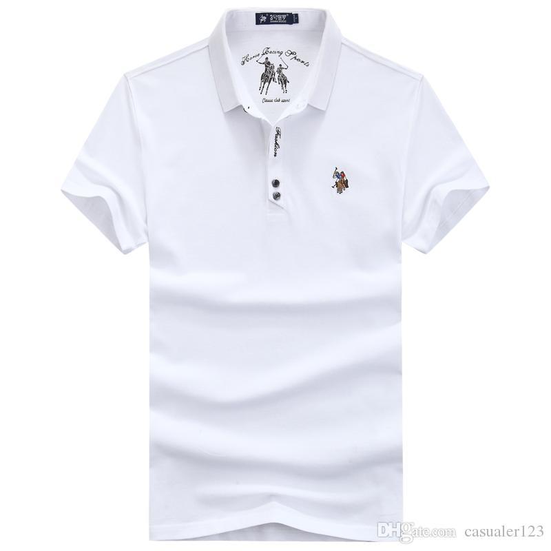 5cf0e537 Compre Camisa De Polo Para Hombre Para Hombre Polos Hombres Camisa De Manga  Corta De Algodón Ropa De Marca Jerseys Golftennis Tallas Grandes 4XL Polo A  ...