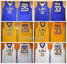 NCAA University Basketball LSU Tigers Jerseys 33 Shaquille ONeal O ... cf20ceb54