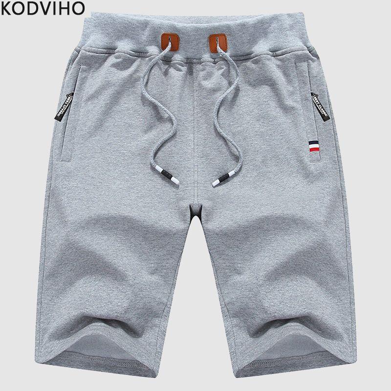 6a55eb5b74a9 Pantalones cortos Masculino Hombres Algodón Streetwear Fitness Verano Sudor  Casual Corto Hombre Playa Boardshort Pantalon Corto Hombre 2019