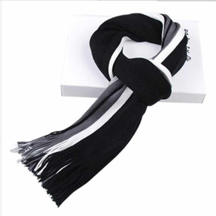 Wholesale- New design striped scarf men warm shawls scarves winter 2016 fall fashion male business scarf echarpe with tassels