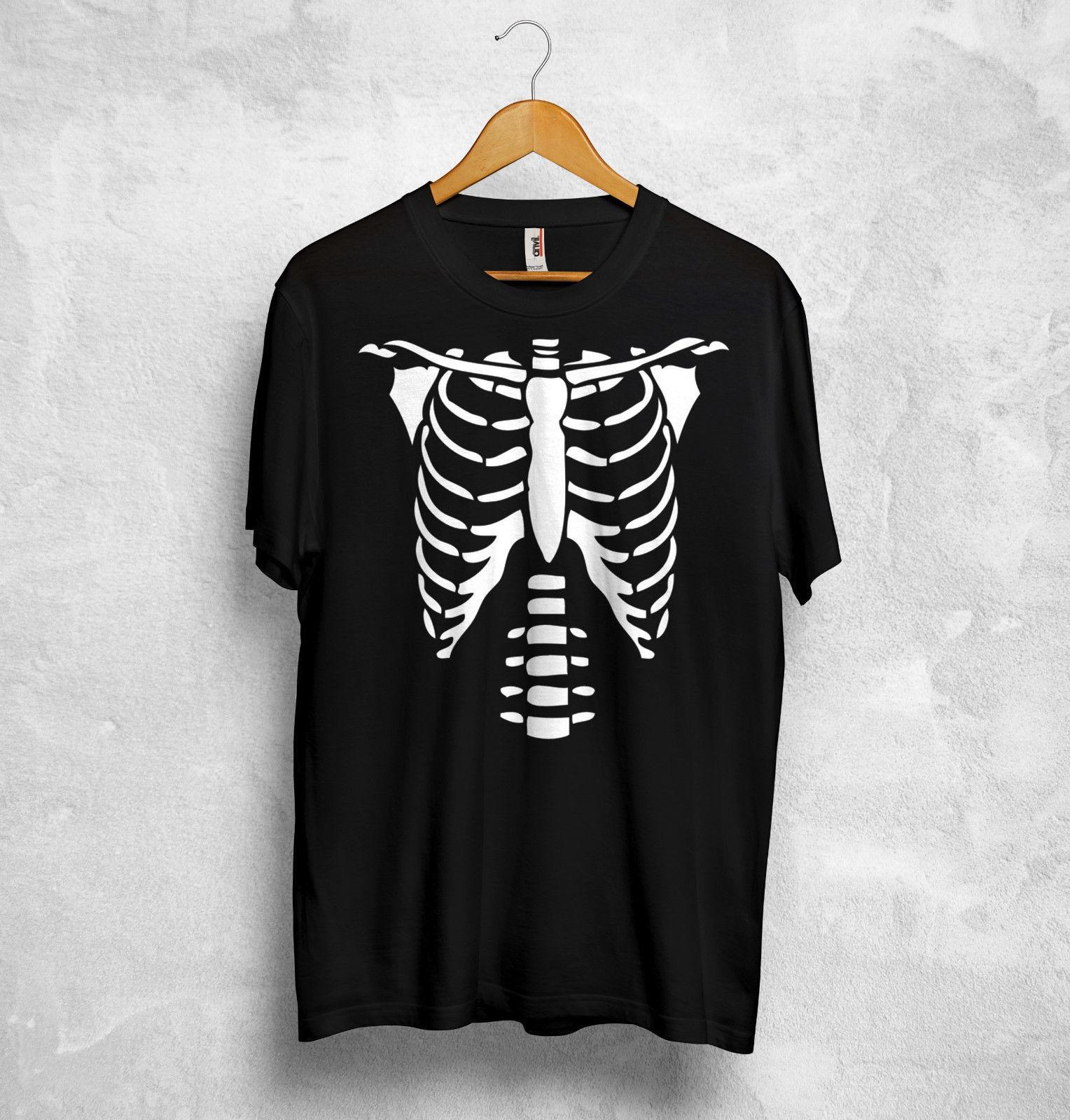 Compre Esqueleto De Jaula Cofre Camiseta Huesos De Halloween Traje De Miedo  Zombi Fantasma Horror Adulto Estilo Chino Para Hombre Camiseta De Algodón A  ... 1e016bd3aab67