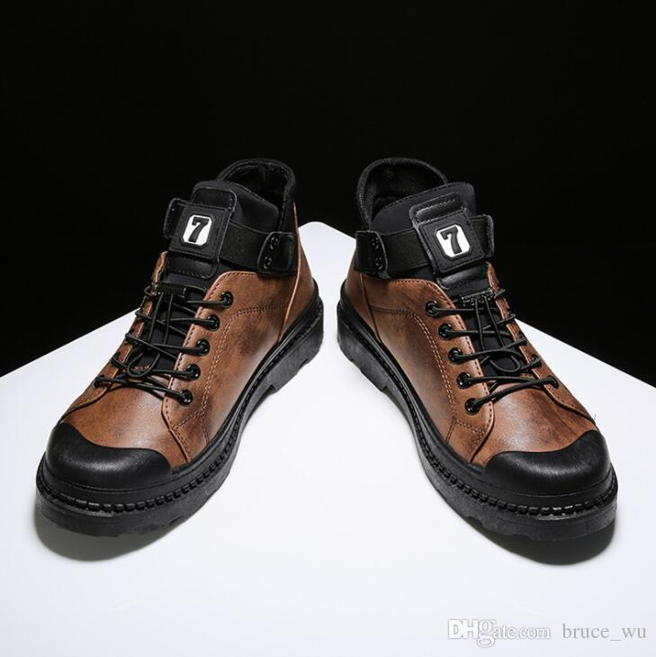 67bf6612fcf0 Acheter Hommes Casual Chaussures Confortable Baskets Pour Absorption Des  Chocs Homme Haute Qualité Hommes Cheville Plat Haut Top Mode Pas Cher  Zapatos De ...