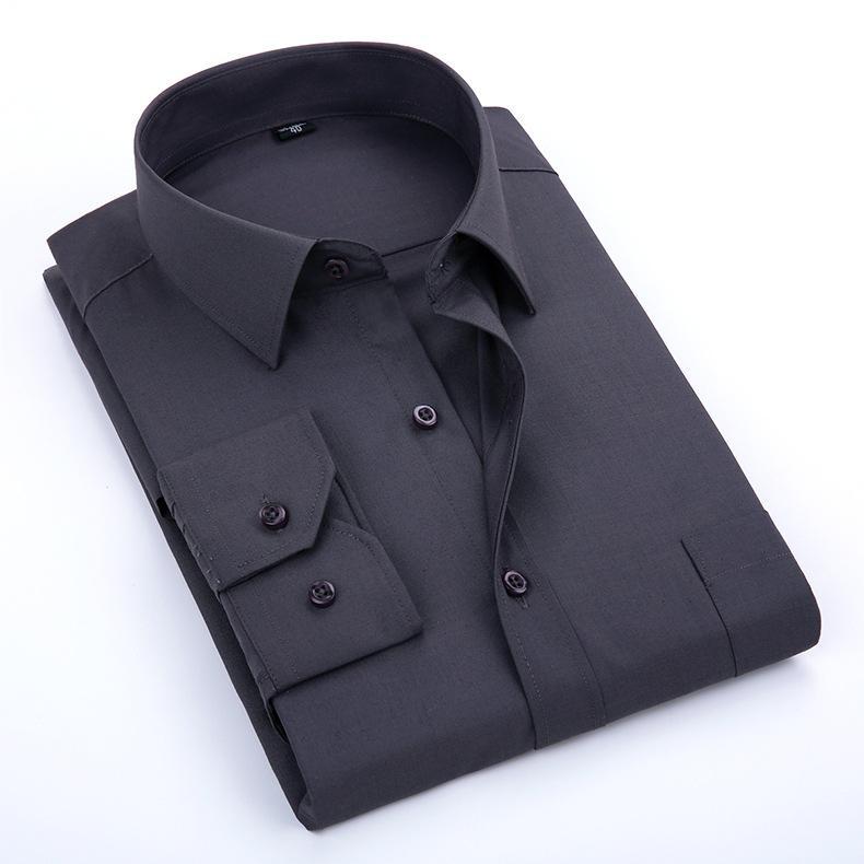 4da4591ce1 Camicia da uomo con gemelli francesi 2019 Camicia a maniche lunghe da uomo  a manica lunga Camicie casual da uomo di marca Camicie a maniche corte