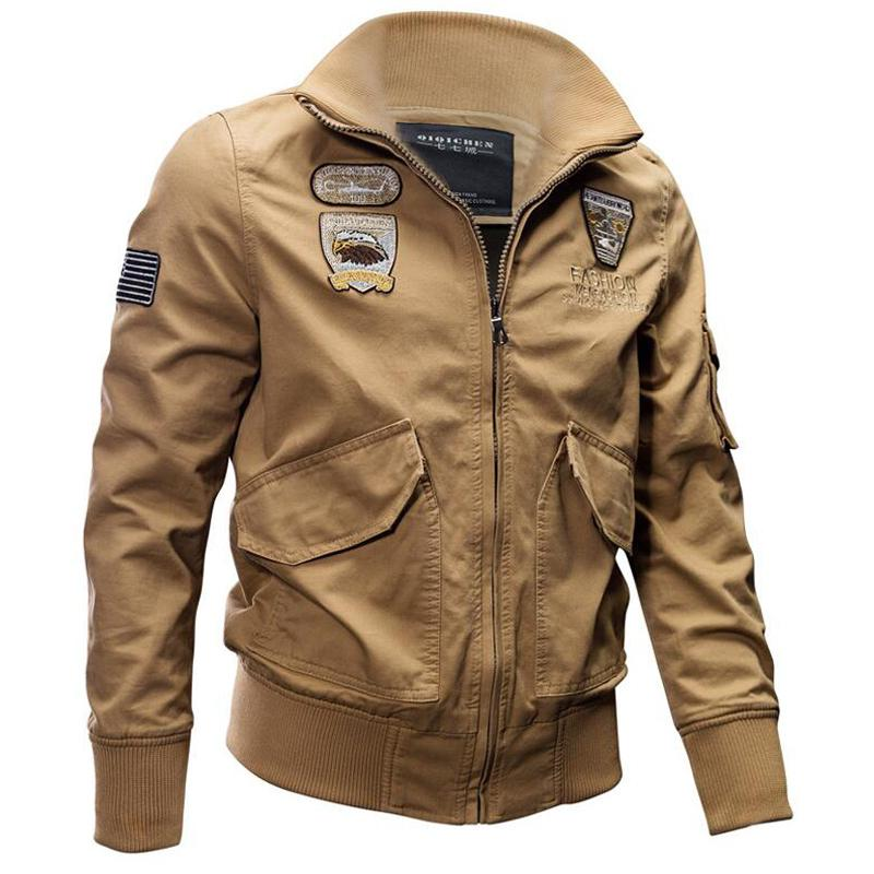 191f46bc623 Army Jacket Men Cotton Military Jackets Jaqueta Masculina Pilot Air Force  Cargo Coats Mens Windbreaker Flight Bomber Jacket Winter Coats Denim Jacket  From ...