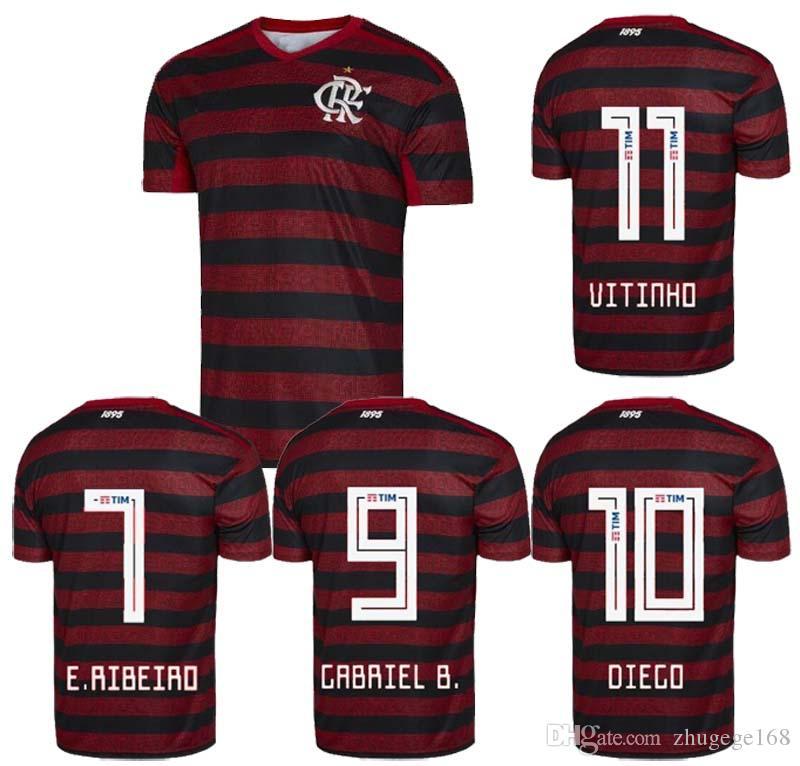 efdb738a78 Compre Flamengo Jersey Camisa Flamengo Camisa De Futebol GUERRERO DIEGO  VINICIUS Jersey 19 20 Tailândia Top Qualidade 2019 Uniforme De Futebol  Treino De ...