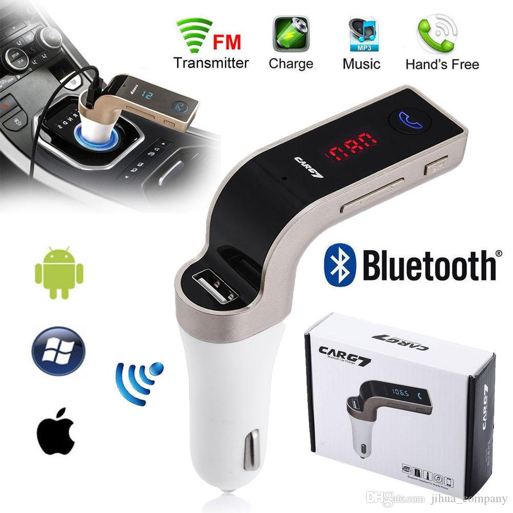 G7 Bluetooth Car Kit Fm Transmitter Usb Charger Wireless Radio Adapter Usb Charger Mp3 Player Dhl Free Shipping