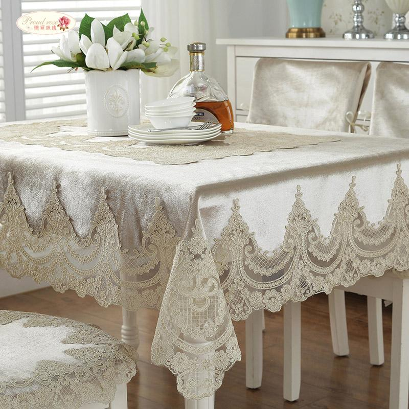 Brilliant Proud Rose European Luxury Table Cloth Chair Cover Lace Rectangular Table Cover Simple Wedding Cloth Cover Chair Cushion Y19062103 Pabps2019 Chair Design Images Pabps2019Com